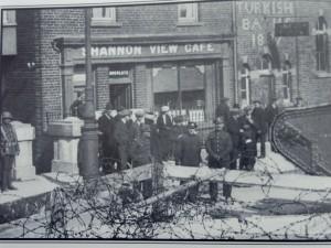 A barricade on Sarsfield Bridge